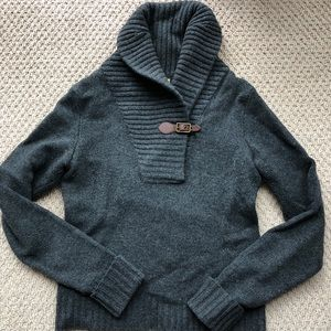 Rugby Ralph Lauren gray charcoal buckle sweater